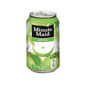 Minute Maid appel frisdrank, pak van 24 blikken van 33 cl