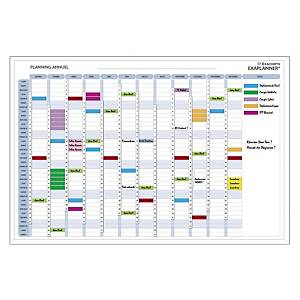Planning annuel Exacompta Exaplanner - magnétique - 90 x 59 cm