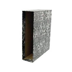 Cajetín archivador Lyreco - folio - lomo 82 mm - negro jaspeado