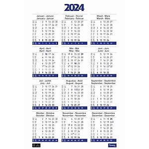 Lyreco kalender in de vorm van een poster, viertalig, 43 x 62 cm