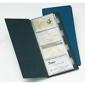 Porta-cartões Miquelrius - 130 x 278 mm - 160 cartões - azul