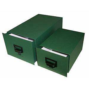 Fichero de sobremesa Karman - cartón - 175 x 125 x 245 mm - 500 fichas - verde