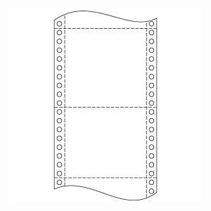 Papír tűs nyomtatókba, 24 x 15,2 cm, 54 g/m², 1 + 2 réteg