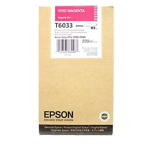 Epson T6033 Ink Cartridge Vivid Magenta