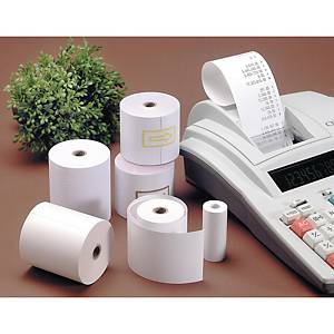 Pack de 10 bobinas de papel offset para calculadora - 56,5 mm x 40 m
