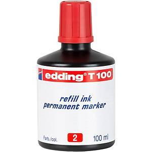 BOTTLE 100ML.INK EDDING T100 RED