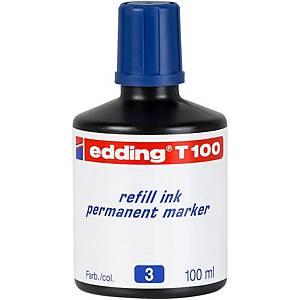 BOTTLE 100ML.INK EDDING T100 BLUE