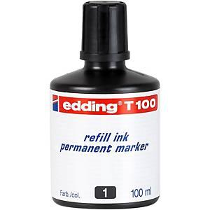 Tinta permanente para marcadores Edding - preto