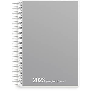 Kalender Mayland Basic 2650 00, dag, 2020, 11,7 x 17,1 cm, pp, grå