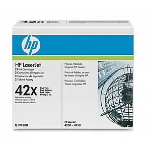 HP Q5942XD dual pack laser nr.42XD black High Capacity [2x20.000 pages]