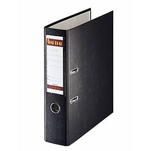Bene No. 1 Standardordner, halbplastisch, Rückenbreite 8 cm, schwarz