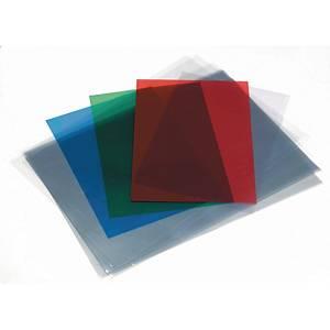 Pack de 100 cubiertas de encuadernación - A4 - PVC - transparente