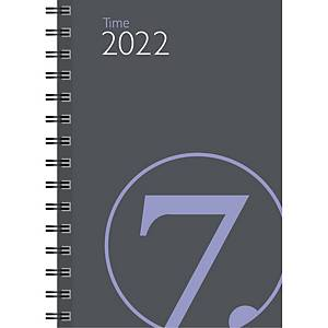 Kalendere 7.Sans Time lommealmanakk spiralisert refill kartong grå