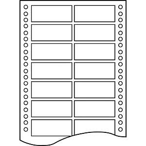 Caja de 12000 etiquetas para impresora matricial Apli 14 - 88,9 x 23,3 mm