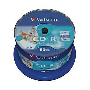 BX50 VERBATIM CD-R SPIND.700MB PRINTABLE