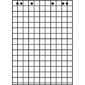 Flipchartblock Landre 419000002, RC, kariert, Maße: 68 x 99cm, 20 Blatt, 5 Stück