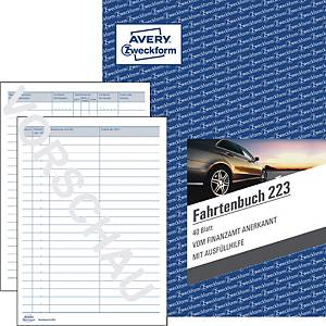 Fahrtenbuch Avery Zweckform 223, für PKW, A5, 40 Blatt
