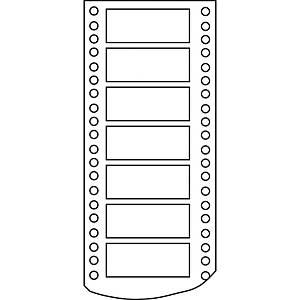 Caja de 4000 etiquetas para impresora matricial Apli 4 - 88,9  x 36 mm - blanco