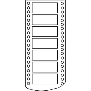 Caixa 4000 etiquetas impressora matricial Apli 7 - 101,6 x 36 mm - branco