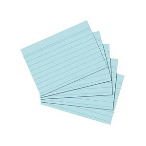 Karteikarten A6, liniert, blau, 100 Stück