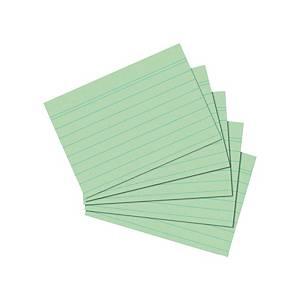 Karteikarten A5, liniert, grün, 100 Stück