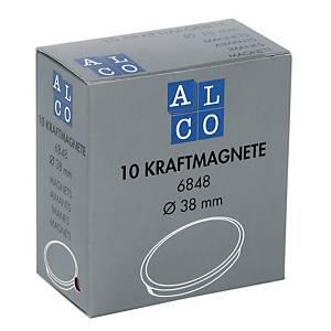 Haftmagnet Alco 6848, Durchmesser: 38mm, weiß, 1 Magnet