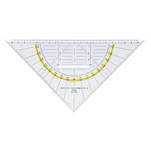 Geodreieck Aristo 1555/2, Hypotenusenlänge: 225mm, mit Griff, transparent