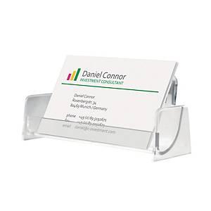Visitenkartenbox Sigel VA120, für 50 Karten, glasklar
