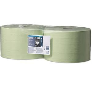 Papierputztücher Tork 129243 Advanced, 2-lagig, Länge: 510m, grün, 2 Rollen