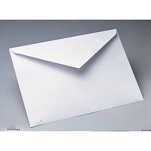 Caixa 250 envelopes folio prolongado - 260 x 360 mm - banda de humedecer