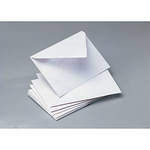 Caixa 100 envelopes cartões de visita - 70 x 106 mm - banda de humedecer
