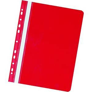 Závěsný prezentační rychlovazač Herlitz - červený, A4