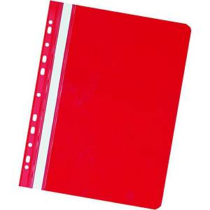 Herlitz függő panorámás gyorsfűző, piros, 20 darab/csomag