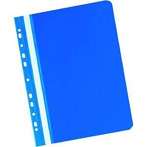 Závesný prezentačný rýchloviazač PVC Herlitz modrý, balenie 20 kusov
