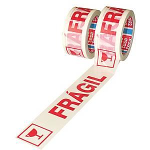 Cinta adhesiva de embalaje Tesa   Frágil   - 50 mm x 132 m