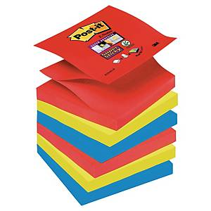 3M Post-it® R330 Super Sticky z-Blöcke 76x76mm, bunt, Pack 6 Blöcke/90 Blatt