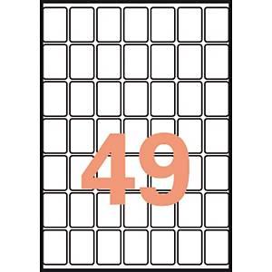 Caja de 735 etiquetas adhesivas Apli 1865 - 19 x 27 mm - blanco