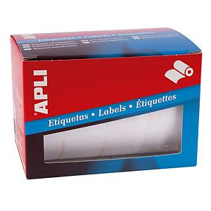Rollo de 1600 etiquetas adhesivas Apli 1690 - 25 x 40 mm - blanco