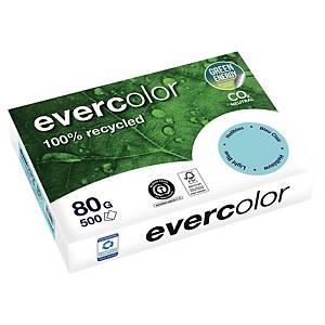 Papier recyclé couleur A4 Evercolor - 80 g - bleu clair - ramette 500 feuilles