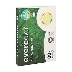 Papier A4 recyclé Clairefontaine Evercolor, jaune canari, 80 g, les 500 feuilles