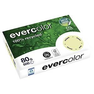 Papier recyclé couleur A4 Evercolor - 80 g - jaune canari - ramette 500 feuilles