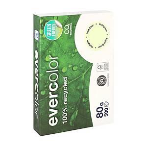 Papier A4 recyclé Clairefontaine Evercolor, vert clair, 80 g, les 500 feuilles