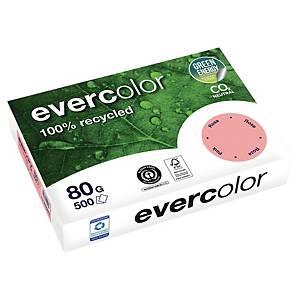 Papier recyclé couleur A4 Evercolor - 80 g - rose - ramette 500 feuilles