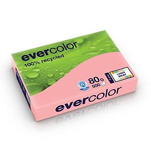 Evercolour Recycled Paper A4 80gsm Pink - 1 Ream of 500 Sheets