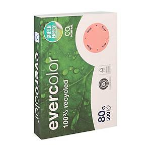 Evercolor recycled coloured paper A4 80g pink - pack of 500 sheets
