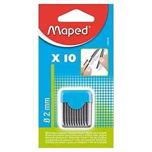 Mine pour compas Maped - étui de 10