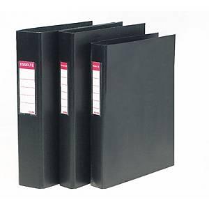 Dossier Esselte - fólio - 2 argolas - lombada 60 mm - preto