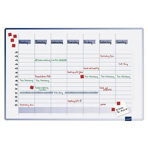 Planificateur de semaine linéaire Legamaster Accent 490000, 60 x 90 cm, bleu