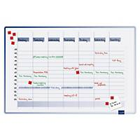 Plánovací tabule Legamaster Accents Linear, týdenní, 90 x 60 cm