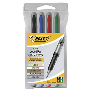 Bic Marking / Mark-It CD Marker Assorted - Box of 4